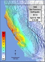 us geological earthquake map modified mercalli intensity maps for the 1906 san francisco