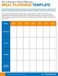 printable meal planner with calorie counter diet excel sheet etame mibawa co