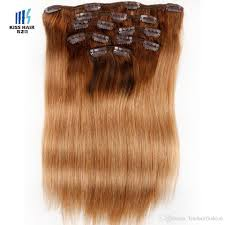 Blonde Hair Extensions Clip In by Full Head Clip In Human Hair Honey Blonde Extensions Two Tone