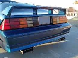 light blue camaro 1982 1992 chevy camaro z28 spoiler with spoiler light