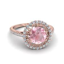 pink morganite 14k gold pink morganite fascinating diamonds