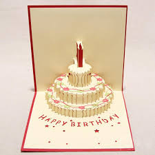 150mm 150mm birthday cake 3d pop up gift u0026 greeting 3d blessing