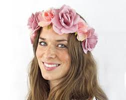 flower headbands floral headband etsy