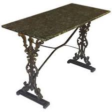Granite Top Bistro Table A French Bakers Table With White Marble Top And Cast Iron Base