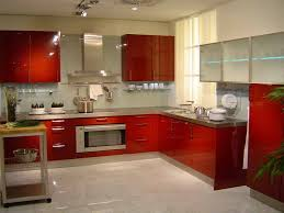 retro small l shaped kitchen design with marble counter and table