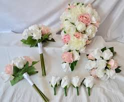 Peonies Delivery Pre Made Set Roses And Peonies Pale Pink U0026 Off White Free Delivery