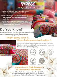 amazon com fadfay home textile boho style bedding set boho duvet