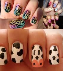 leopard print nail art designs simple nail design ideas 78561