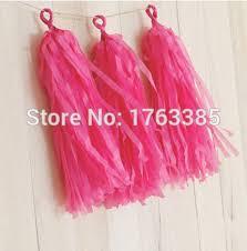 hot pink tissue paper set of 15 hot pink tissue paper tassels garland for wedding banner