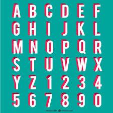 alphabet numbers vector free download