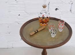 jeux de cuisine service service à liqueur carafe vintage verres à apéritif articles de