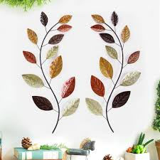 38 in x 17 in leaf metal wall decor dn0029 the home depot leaf metal wall decor
