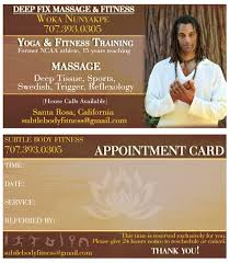 Sports Massage Business Cards Business Cards Irie Irations