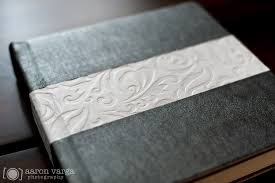 leather wedding albums silver and white leather flush mount wedding album