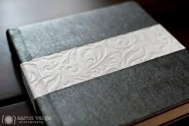 leather wedding album silver and white leather flush mount wedding album