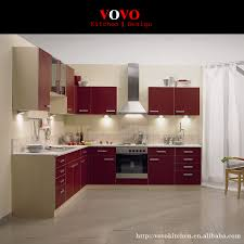 high gloss modern kitchen cabinets red color on aliexpress com