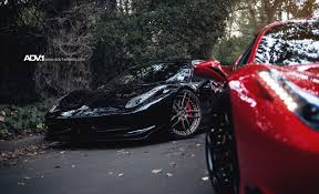 chrome ferrari 458 horsing around in 2 ferrari 458 u0027s on adv 1 wheels adv 1 wheels