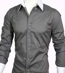 16 men s casual slim fit long sleeve dress shirt grey