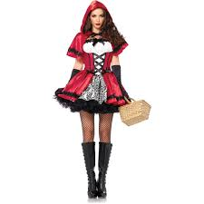 Motorcycle Rider Halloween Costume Leg Avenue Gothic Red Riding Hood Halloween Costume