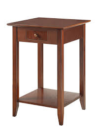 Rustic Kitchen Islands And Carts Amazon Com Convenience Concepts American Heritage End Table With