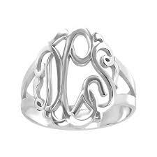 monogram rings sterling silver sterling silver monogram ring