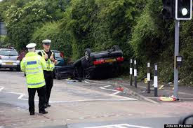 children and adults injured as car overturns near primary