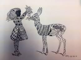 drawing unicorn crossing