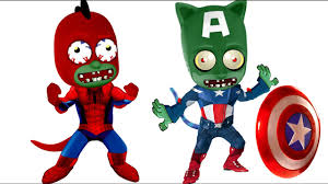 pj masks spider man zombie captain america coloring pages for kids