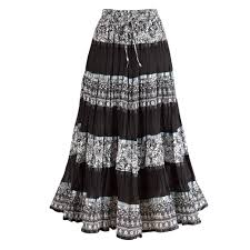 cotton skirt women s peasant skirt enchanting black and white cotton
