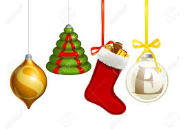 set of christmas decorations forming the word sale royalty free