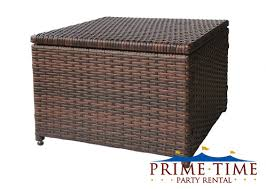 all weather outdoor wicker chair u0026 ottoman set primetimepartyrental