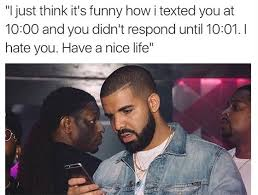 Texting Meme - drake texting memes cell phone funny pictures