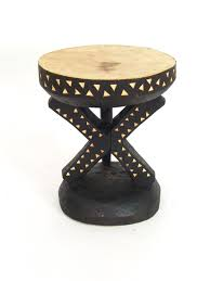 One Of A Kind Home Decor by One Of A Kind Tonga Stool Hand Carved In Zimbabwe