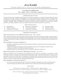 construction resume exles director of construction resume exle by mplett resume templates