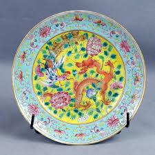 canton porcelain canton porcelain plate and phenix battle china 19th