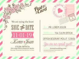 postcard wedding invitations postcard wedding invitations template free vector 15 280