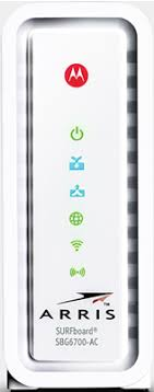 motorola surfboard cable modem lights arris motorola sbg6700