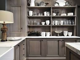 light gray stained kitchen cabinets kitchen cabinets black recessed lighting around range