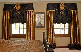 Bedroom Curtain Sets Black And Gold Curtains Interior Design