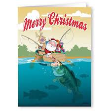 santa bass fish theme card 18 cards and