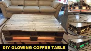 diy pallet coffee table diy pallet coffee table glowing youtube
