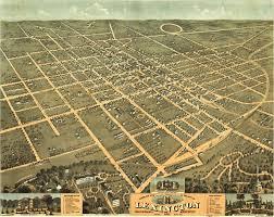 Bird View Map Birdseye View Of Lexington Kentucky 1871