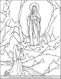 our lady of lourdes coloring page the catholic kid catholic