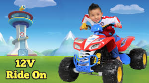 paw patrol power wheels unboxing paw patrol kids electric battery powered 12v ride on car