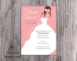 words for bridal shower invitation diy bridal shower invitation template editable word file instant