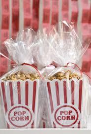 popcorn favor bags diy caramel popcorn ruffled