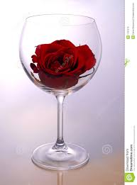 wine glass with rose royalty free stock images image 1701679