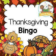 thanksgiving bingo pre k pages