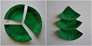 paper christmas tree craft part 22 paper plate layered