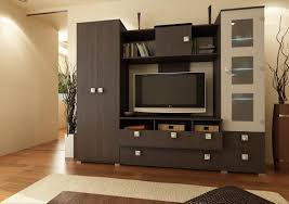 cozy modern living room wall units with storage lcd walls design